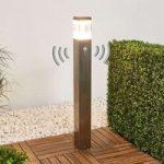 Sensor LED gadelampe Baily i rustfrit stål