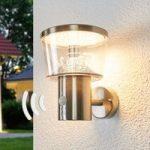 Sensor udendørs væglampe Antje med LED'er