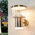 LED udendørs væglampe Antje i rustfrit stål