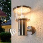 Solcelledrevet LED udendørs væglampe Antje sensor
