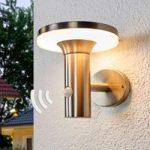 LED solcellelampe Eliano med bevægelsessensor
