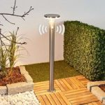 Solcelle LED gadelampe Eliano med sensor