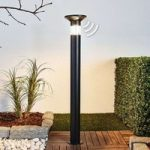 Sort LED gadelampe Jalisa, solcelledrevet