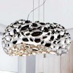 LED-hængelampe Narisa 47 cm blankt krom