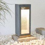LED-sokkellampe Adejan med basalt, 40 cm